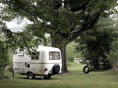 foto van een caravan