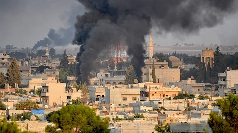Gebed bij de gevechten in Noord-Syrië