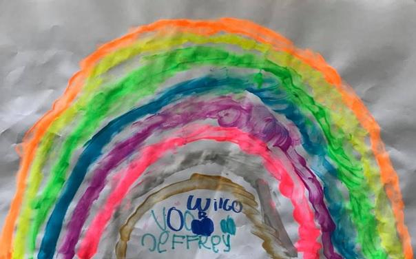 regenboog kindertekening