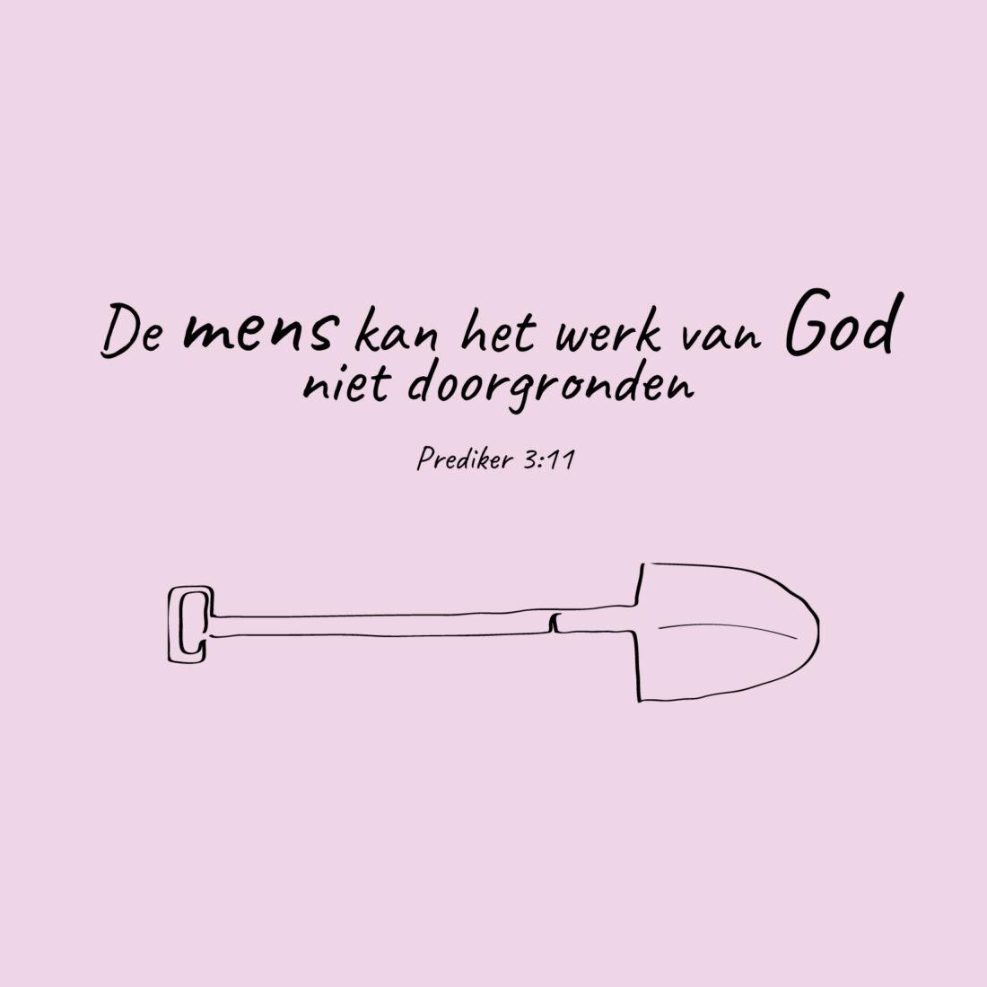 De mens kan het werk van God niet doorgronden